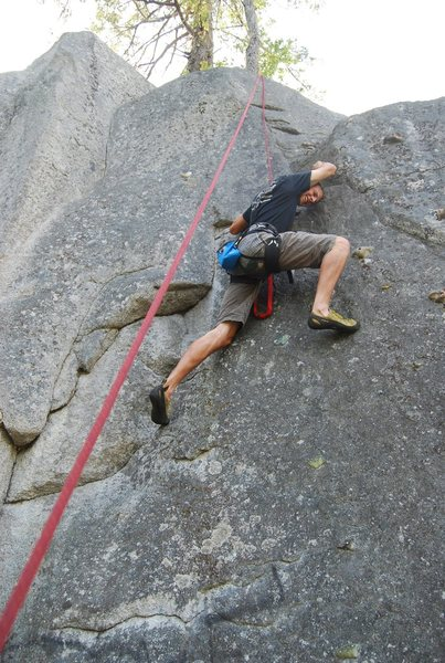 Rock Climbing Photo: on the traverse. don't use the bolted holds for a ...