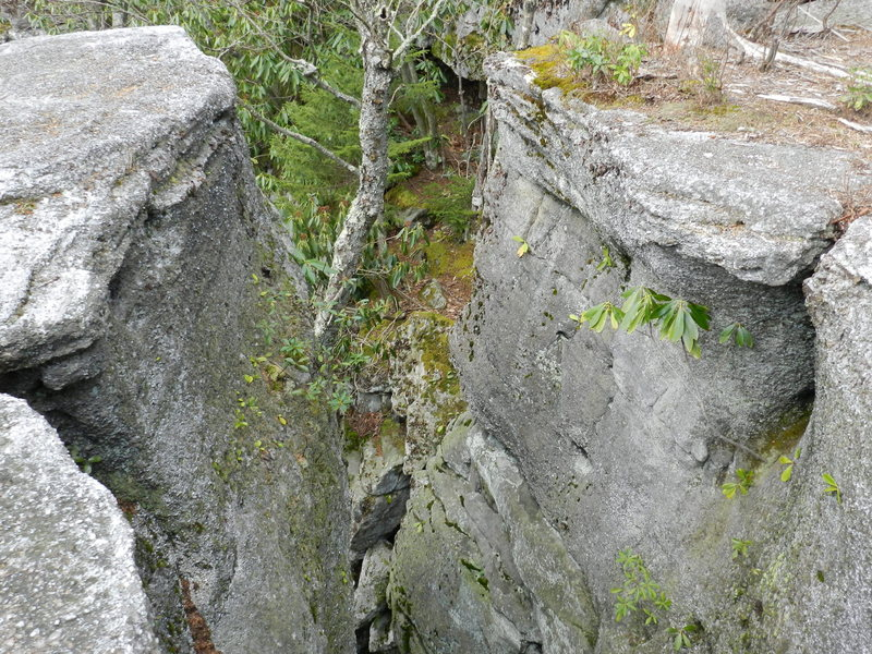 The gap on the backside of High Wall Block.