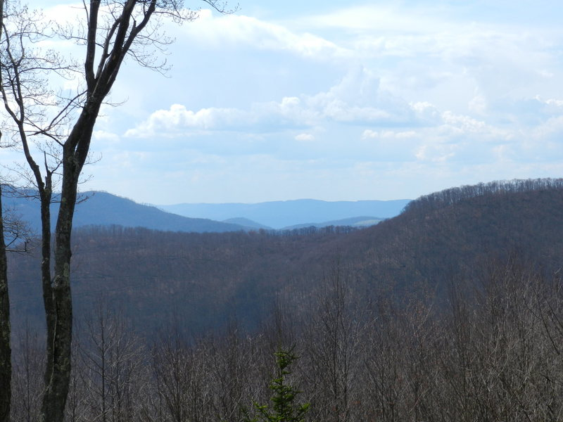 Rock Climbing Photo: View of Shavers Mountain and Bickle Knob from the ...