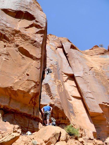 Rock Climbing Photo: Approaching the chains.