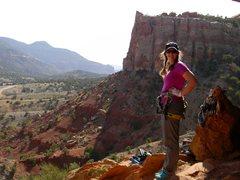 Rock Climbing Photo: Kate Robinson in Escalante