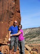 Rock Climbing Photo: The newlyweds - Hanging Chad and Kate