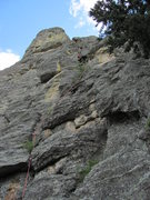 Rock Climbing Photo: Line taken on the first pitch.