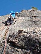 Rock Climbing Photo: Starting out on p2 of Carpenter & Das.