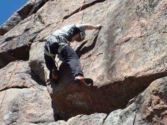 Rock Climbing Photo: Lukasz Czyz on the 5.10d variation.