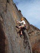 Rock Climbing Photo: Ryan H. on Amphitheatre Crack.