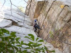 Rock Climbing Photo: climbing the roof of Standardized Testing.