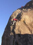 Rock Climbing Photo: Where Two Deserts Meet - short, fun crack climb
