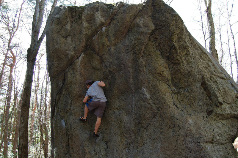 Rock Climbing Photo: Matt in the middle of Looker