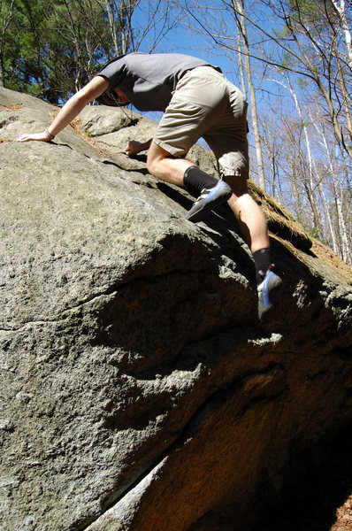 Rock Climbing Photo: Topping out Makaias Problem