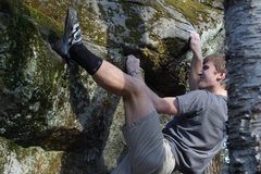 Rock Climbing Photo: Working the top out on the Dickens