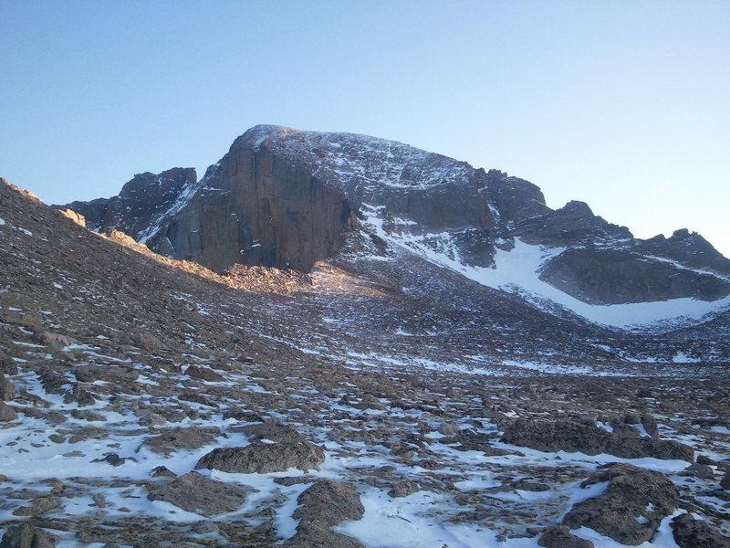 Rock Climbing Photo: Long's Peak on 4-8-12.