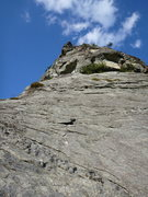 Rock Climbing Photo: Looking up the second pitch of the Prow