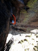 Rock Climbing Photo: Chasing the shade up Vertigo with Ol' Kenny P....