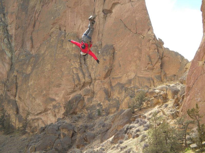 Rock Climbing Photo: King swing, Smith Rock, OR.