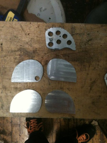 All four machined lobes next to the G4R template lobe