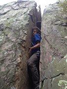 Rock Climbing Photo: Ryan starting in the real tight beginning.