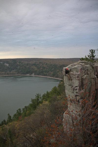 Rock Climbing Photo: Josh Knapp topping out SOGC direct.