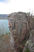 Rock Climbing Photo: J Knapp sending.