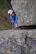 Rock Climbing Photo: Ryan on stuck knee.