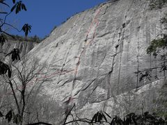 Rock Climbing Photo: Most of the route