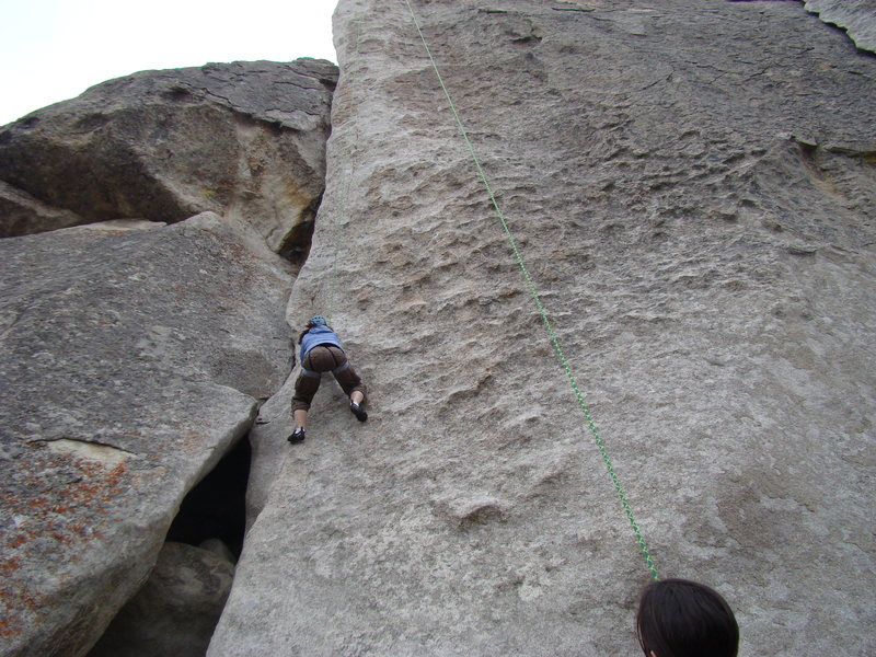 Rock Climbing Photo: 100 meters to the top. Gotta have a long rope to c...