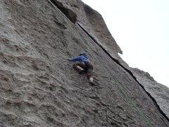 Rock Climbing Photo: 1/2 way up