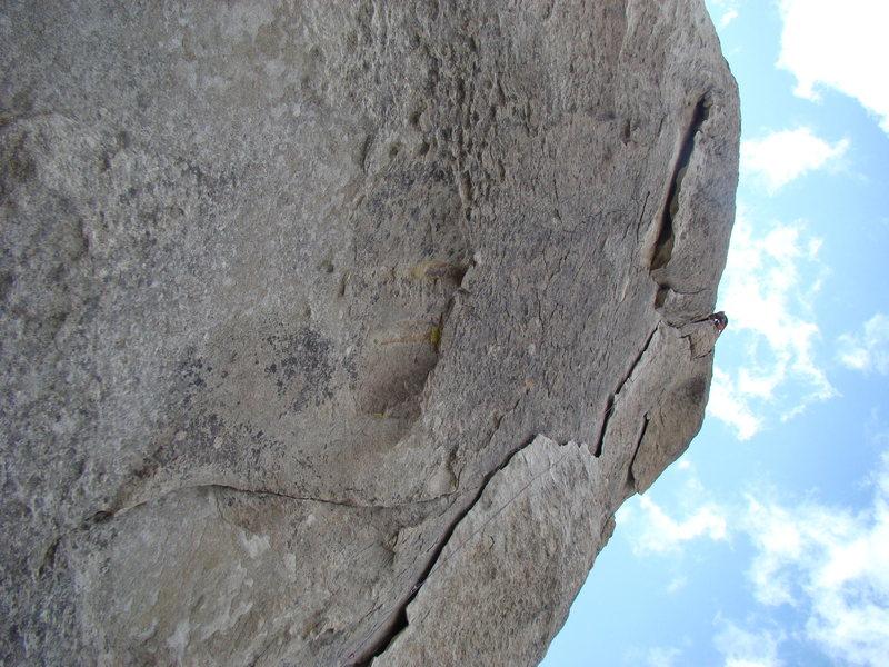 Crack climb