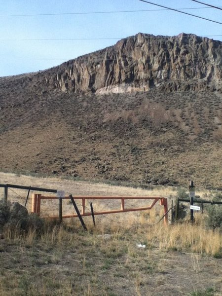 Access Gate to Prickly Pear Canyon