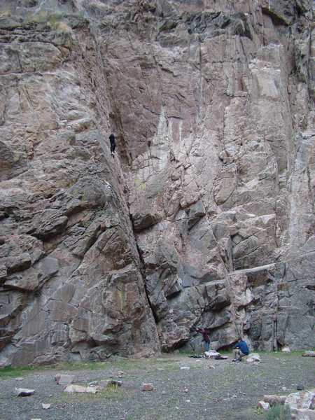 Rock Climbing Photo: Its a long way to the top if you want to rock-n-ro...