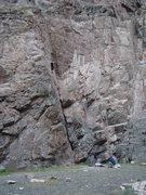 Rock Climbing Photo: Its a long way to the top if you want to rock-n-ro...