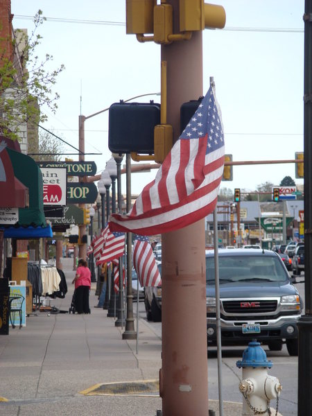 Rock Climbing Photo: Downtown Cody, WY. one of the most patriotic town ...
