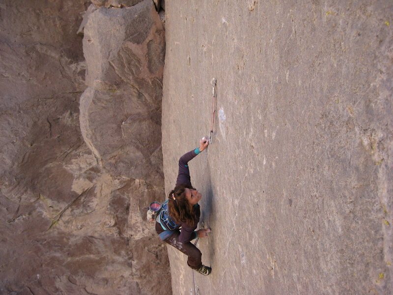 Holey Wars - in the crux moves.