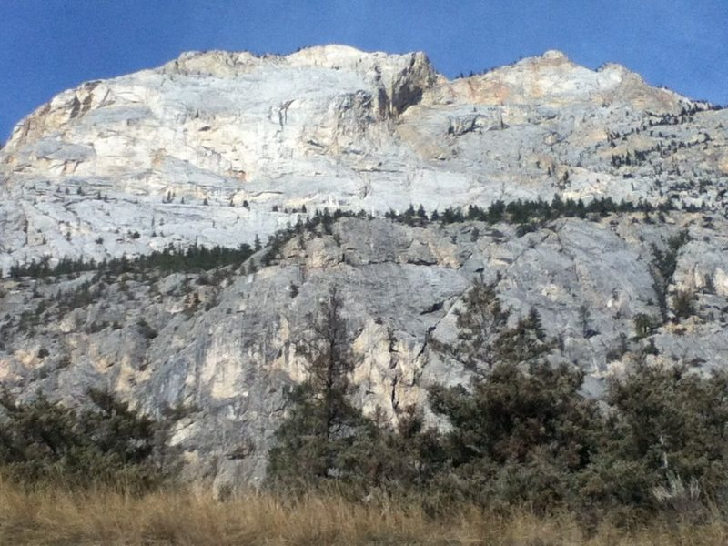 Rock Climbing Photo: The Apron (Bottom) and the Headwall (Top) of Marbl...