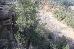 Rock Climbing Photo: Chris nearing the top of MDC