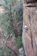 Rock Climbing Photo: Chris getting up MDC