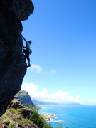 Rock Climbing Photo: Makapuu Overhang.  Oahu, Hawaii.