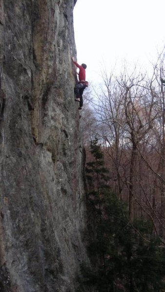 Rock Climbing Photo: Higher on the arete