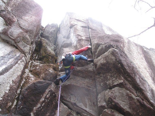 Rock Climbing Photo: Getting after it on Fern Crack