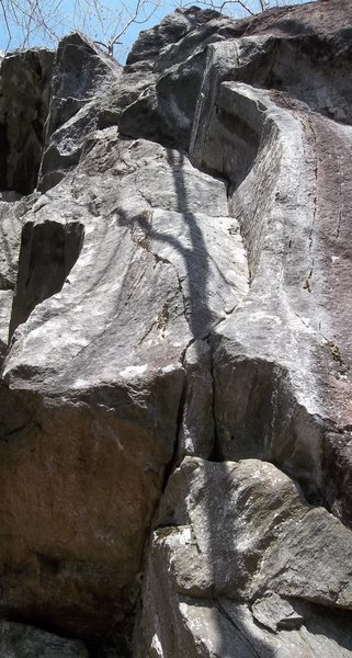 Rock Climbing Photo: Killers Crack going up the left facing corner at t...