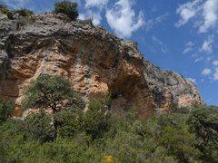 Rock Climbing Photo: The cave at Bombó Suis wall.