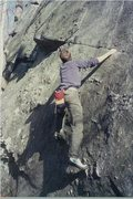 Rock Climbing Photo: Sometime around 1990 - not staying between the lin...