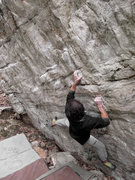 "Rock Climbing Photo: Aaron Parlier on the start to ""Fight Night&qu..."