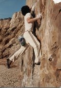 Rock Climbing Photo: Jeff Laina on Crystal Clear 5.10+ 1980s, at The Be...