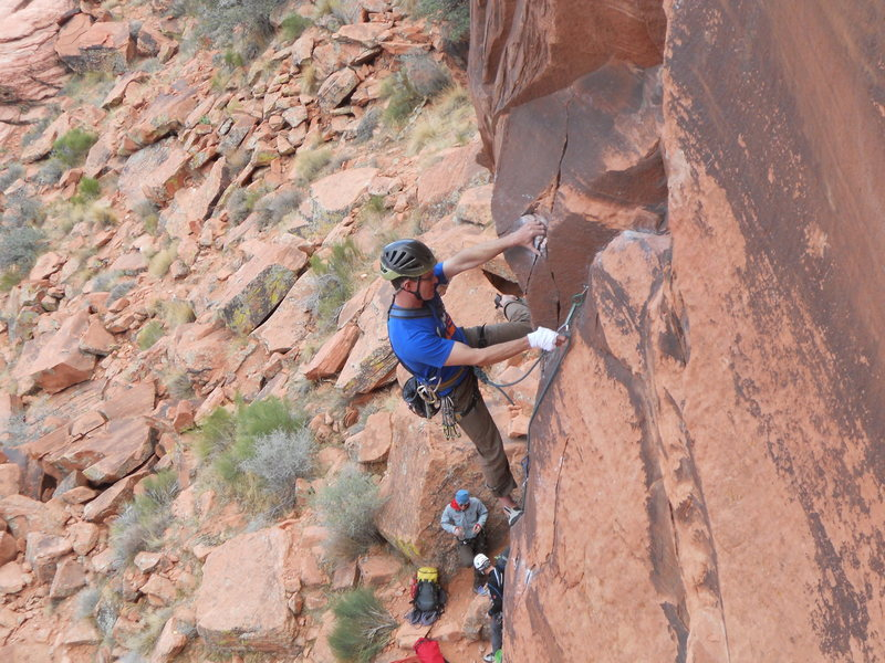 Rock Climbing Photo: Jim Mediatore on the opening moves of The Fox.
