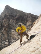 Rock Climbing Photo: Jim Mediatore at the top of the 5.6, 1st pitch. 1 ...