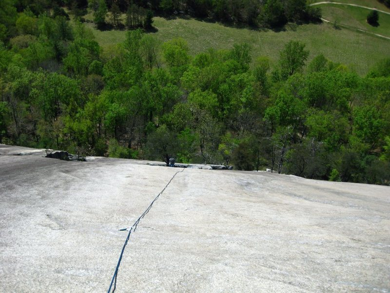 Looking down the second pitch of No Alternative.