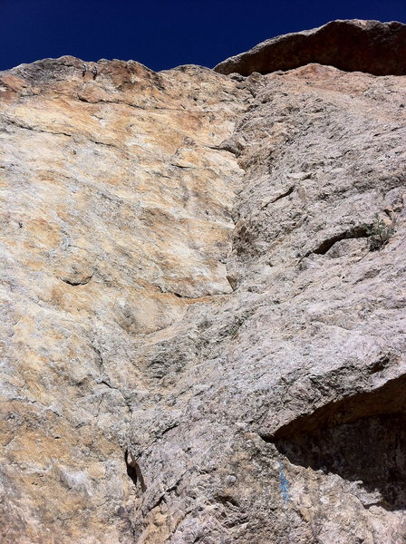 Rock Climbing Photo: What the route looks like at the base.