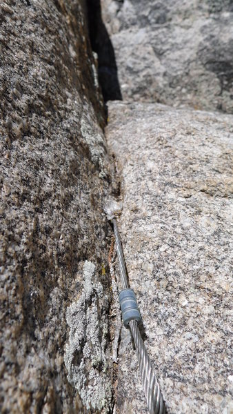 Rock Climbing Photo: Who loves heads for anchors? The anchor has been r...