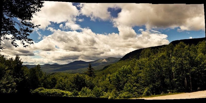 View of the height of land in Evan's Notch. <br> www.bagleyheavybags.blogspot.com